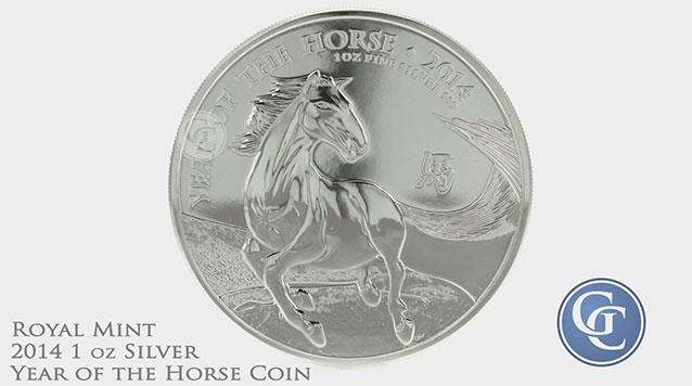 2014 British Royal Mint 1 oz Silver Lunar Horse