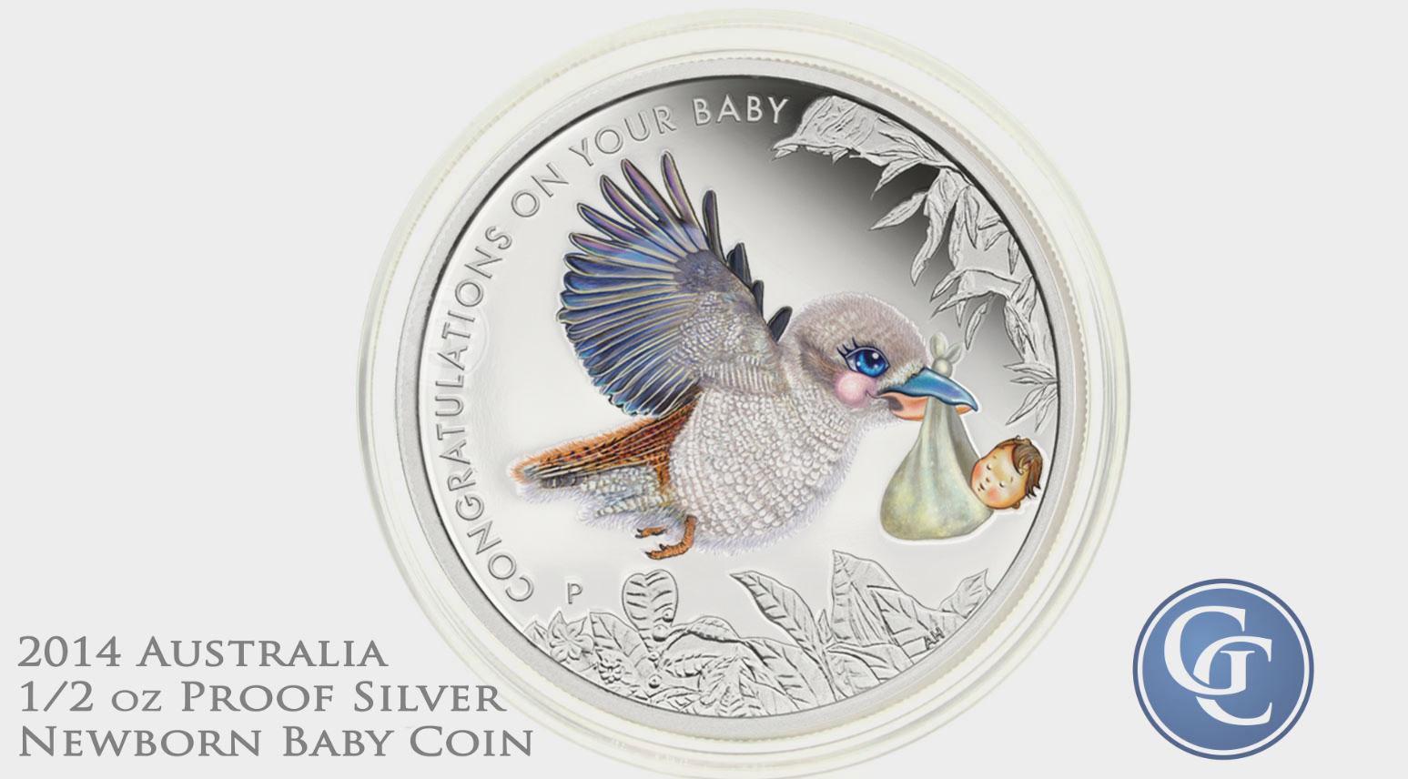 2014 Australian 1/2oz Proof Silver Newborn Baby