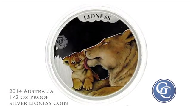 2014 1/2 oz Proof Silver Coin Australia Mothers Love Lioness
