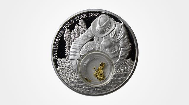 2016 1 oz Silver Gold Rush Coin