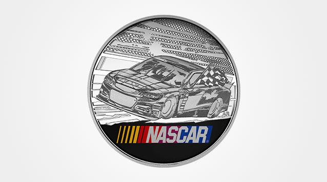 NASCAR 2016 Silver 1 oz Medallion