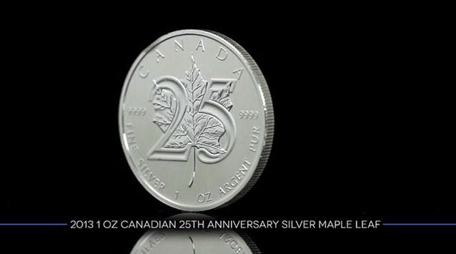 2013 1 oz Canadian 25th Anniversary Silver Maple Leaf
