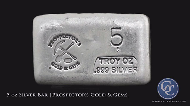 5 oz Prospectors Silver Bar