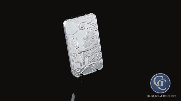 5 oz Trident Silver Bar
