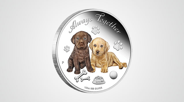 Always Together Dogs 1/2 oz Silver Proof Coin Video