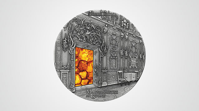 Amber Room Masterpieces In Stone 3 oz Silver Coin Video