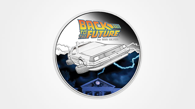 2015 Back to the Future 1 oz Proof Silver Coin