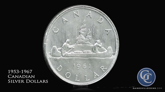 1935 - 1967 Canadian Silver Dollars