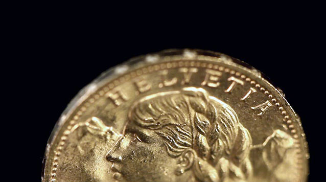 Gold Swiss 20 Franc Helvetia