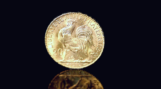 Gold French 20 Franc Rooster
