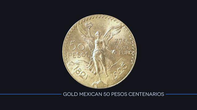 Gold Mexican 50 Pesos