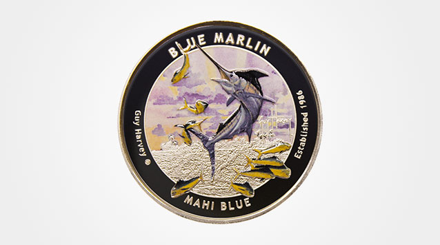 2015 Guy Harvey© Blue Marlin 1 oz Proof Colorized Silver Round Product Video