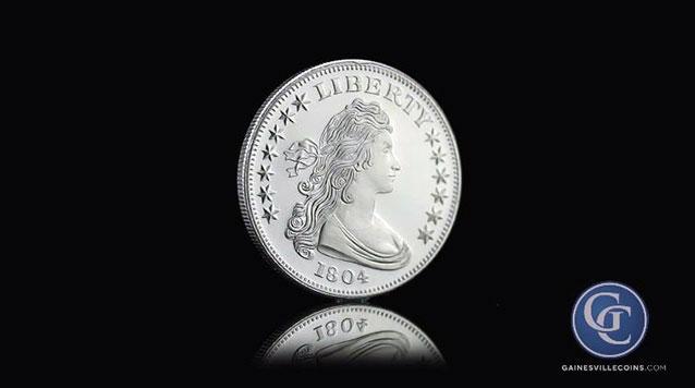 1 oz Silver Round, Liberty Draped Bust Design