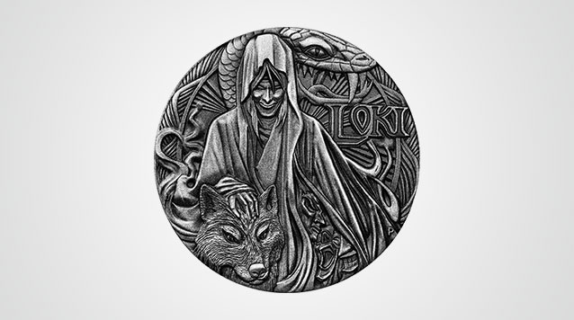 2016 Loki Norse God 2 oz High Relief Silver Coin Australia Perth Mint - With Box and COA Product Vid