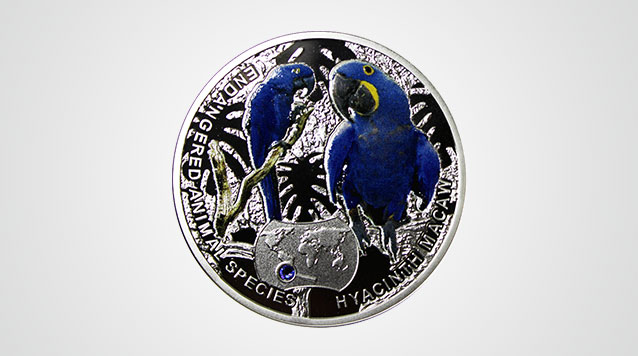 Macaw Proof Silver Coin Product Video