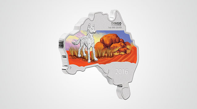 Map-Shaped Dingo 1 oz Proof Silver Coin Video