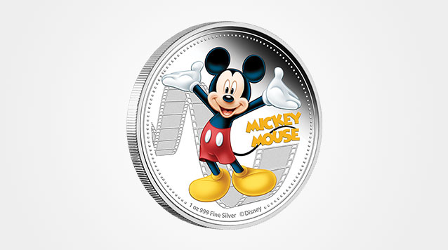 2014 1 oz Mickey Mouse Disney Proof Silver Coin