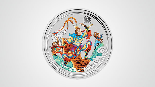 Perth Mint Monkey King Colorized Bullion Silver Coin Video