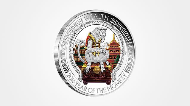 2016 Lunar 2 coin Proof Silver Monkey Set