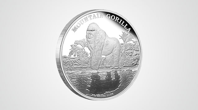 2015 Mountain Gorilla Endangered Species 1 Oz Proof Silver $2 Niue Product Video