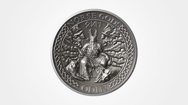 High Relief 2 oz Odin Silver Coin
