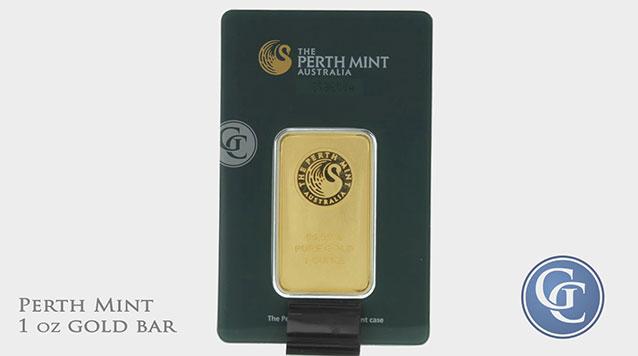 1 oz Perth Mint Gold Bar In Assay .9999 Fine