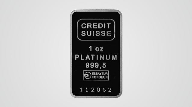 1 oz Credit Suisse Platinum Bar Product Video
