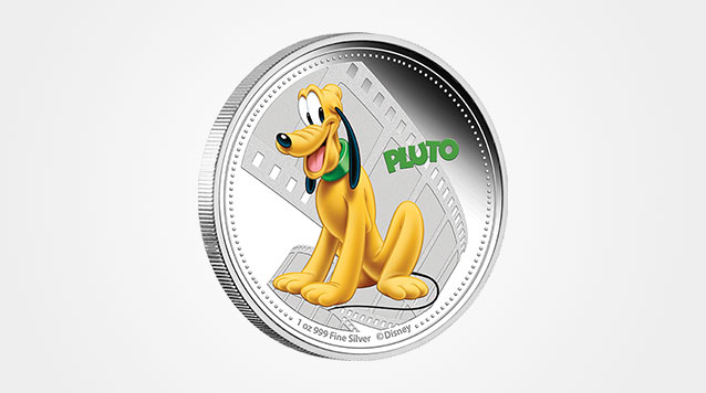 2014 1 oz Pluto Proof Silver Coin
