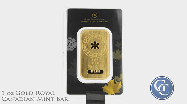 1 oz Royal Canadian Mint Gold Bar In Assay Card .9999 Pure