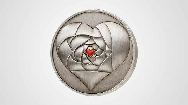 2016 Cook Islands Rose In Your Heart 1/2 oz Antique Finish Silver Coin Product Video