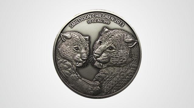 2013 Sabre Toothed Tiger 10 oz Silver 5000 Francs - Smilodon Product Video