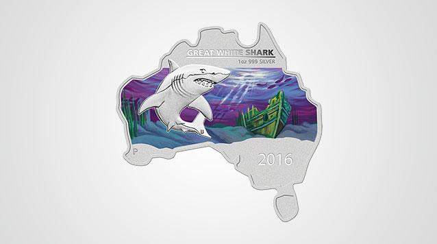 Great White Shark Australia Silver Coin Video