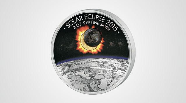 2015 Solar Eclipse Of The Sun 3 oz Silver Coin - Burkina Faso 1500 Francs Product Video
