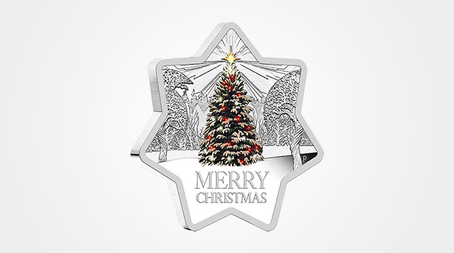 Star shaped Merry Christmas Silver Coin Product Video