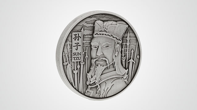 Sun Tzu High Relief Silver Round Product Video