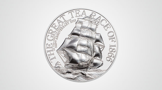 2016 The Great Tea Race 2 oz High Relief Silver Coin - $10 Cook Islands Product Video