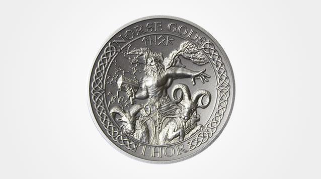 2015 High Relief Thor 2 oz Silver Coin
