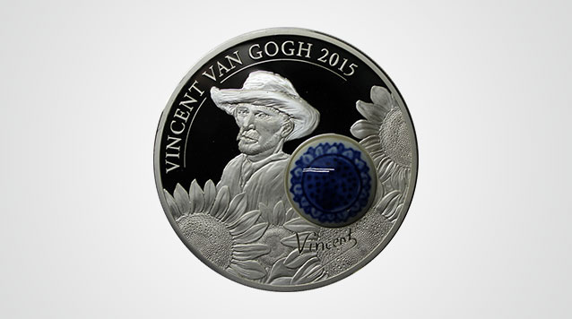 2015 Royal Delft Vincent Van Gogh $10 Cook Islands Proof Silver Coin Product Video
