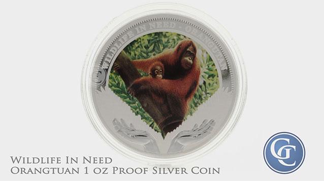 2011 Wildlife Orangutan 1 oz Silver Proof Coin