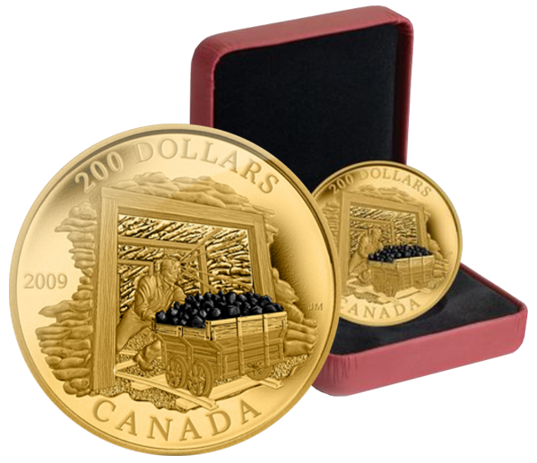 Canada Coal Mining Gold Proof Coin