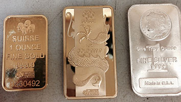 Counterfeit gold bar