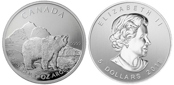 Canadian Silver Grizzly Coins