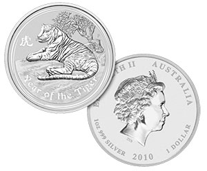 Australian Year of the Tiger Coins