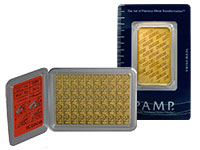switzerland valcambi and pamp suisse design gold bar