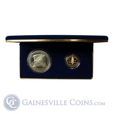 1987 US Constitution 2-Coin Gold and Silver Set - With Box and COA