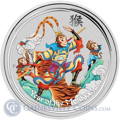2016 Lunar Monkey King Australian 1 oz Silver - With Box and COA