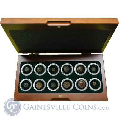 The Greek World - Box Of 12 Bronze Coins From The Time Of Ancient Greece