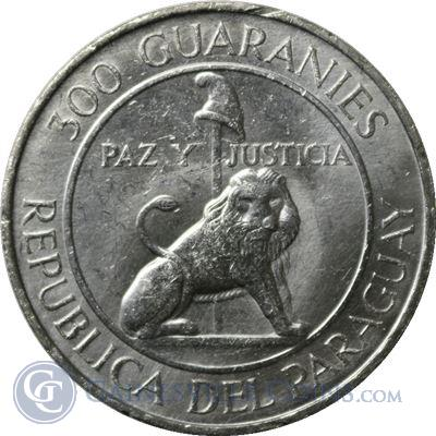 1968-1973 Paraguay 300 Guaranies Silver Coin (.615 oz ASW)