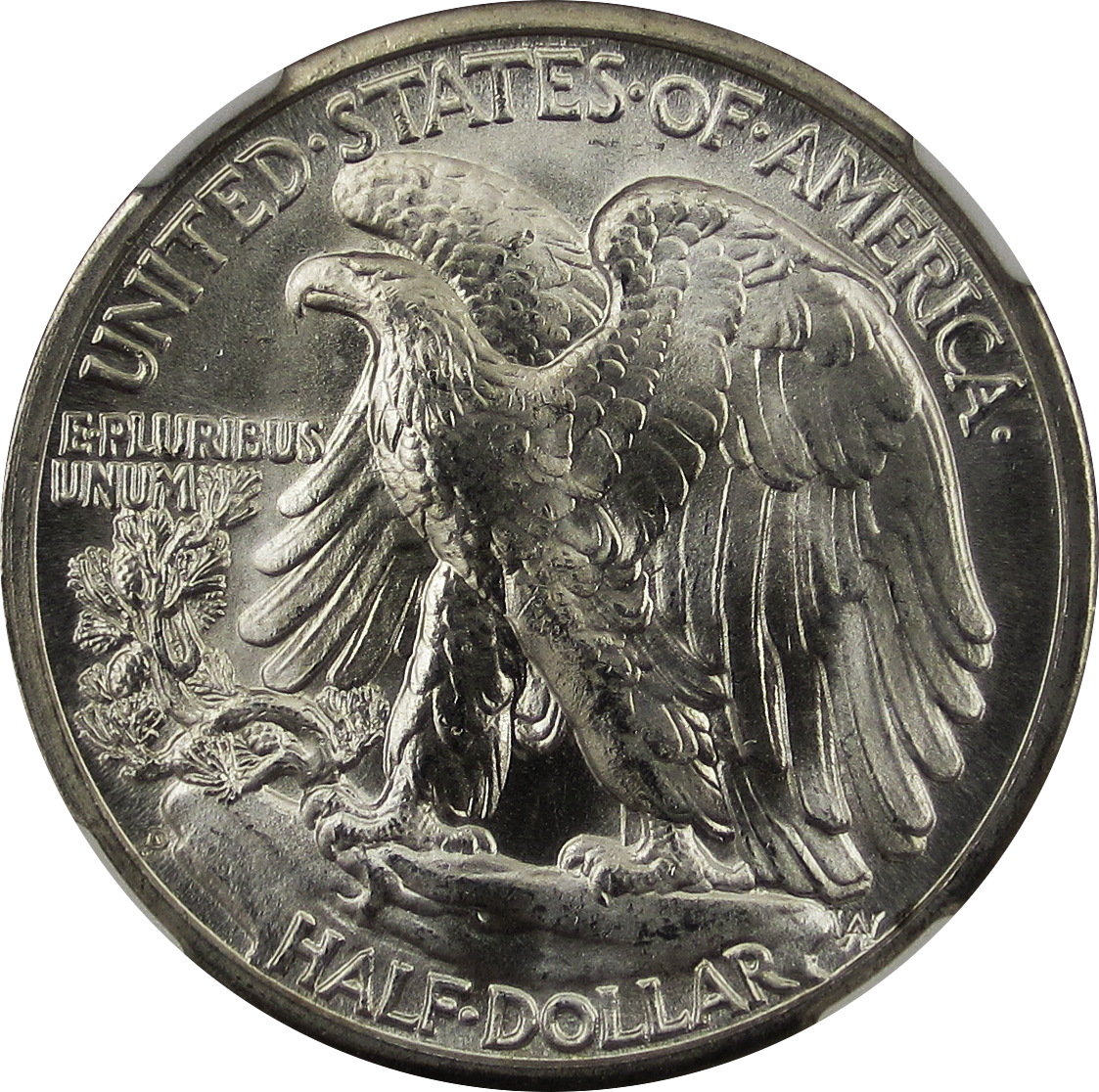 Walking Liberty Half Dollar 1945D Reverse weinman2
