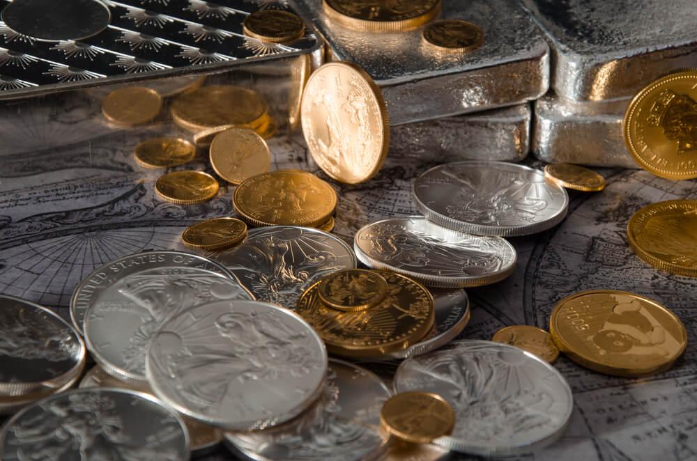 gold silver coins